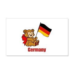 Germany Teddy Bear Wall Decal