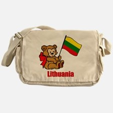 Lithuania Teddy Bear Messenger Bag