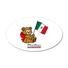 Mexico Teddy Bear 22x14 Oval Wall Peel