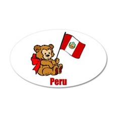 Peru Teddy Bear 38.5 x 24.5 Oval Wall Peel