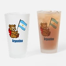 Argentina Teddy Bear Drinking Glass