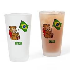 Brazil Teddy Bear Drinking Glass