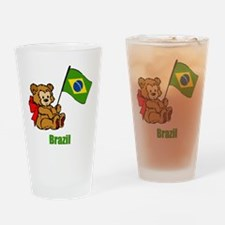 Brazil Teddy Bear Drinking Glass