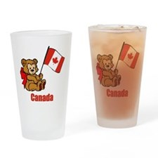 Canada Teddy Bear Drinking Glass