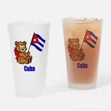 Cuba Teddy Bear Drinking Glass