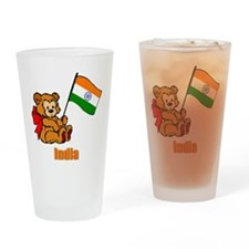 India Teddy Bear Drinking Glass