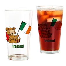 Ireland Teddy Bear Drinking Glass