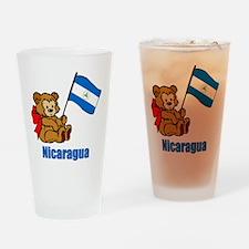 Nicaragua Teddy Bear Drinking Glass