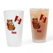 Peru Teddy Bear Drinking Glass