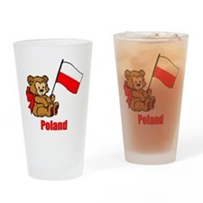 Poland Teddy Bear Drinking Glass