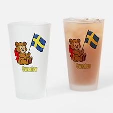 Sweden Teddy Bear Drinking Glass