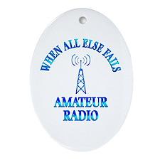 Amateur Radio Ornament (Oval)