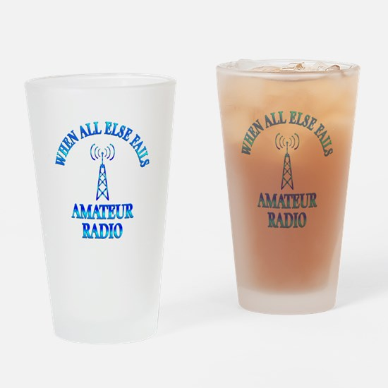 Amateur Radio Drinking Glass