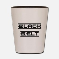 Bold Black Belt Shot Glass