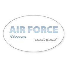 Air Force Veteran Oval Decal