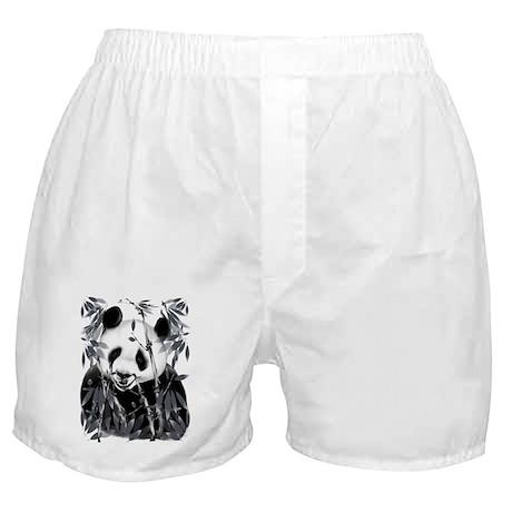 Grey Tone Panda Boxer Shorts