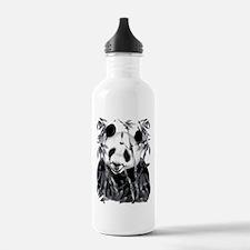 Grey Tone Panda Water Bottle