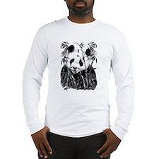 Grey Tone Panda Long Sleeve T-Shirt