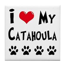 Catahoula Tile Coaster