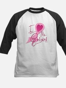 Heart/Support My Grandma Kids Baseball Jersey