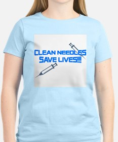 Clean Needles Save Lives T-Shirt