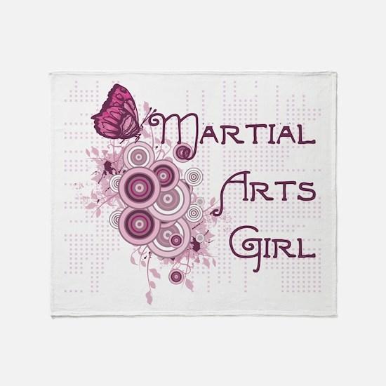 Martial Arts Girl Throw Blanket