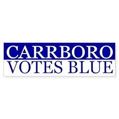 Carrboro Votes Blue (bumper sticker)