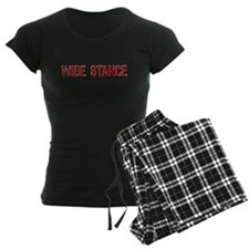 Wide Stance Red Pajamas
