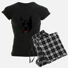 Pit Bull with L Pajamas