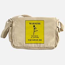 Tae Kwon Do Warning Messenger Bag