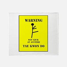 Tae Kwon Do Warning Throw Blanket