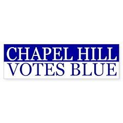 Chapel Hill Votes Blue (bumper sticker)