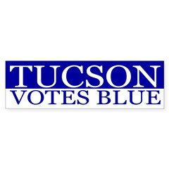 Tucson Votes Blue Bumper Bumper Sticker