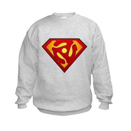 Super DJ 45 RPM Adapter Kids Sweatshirt