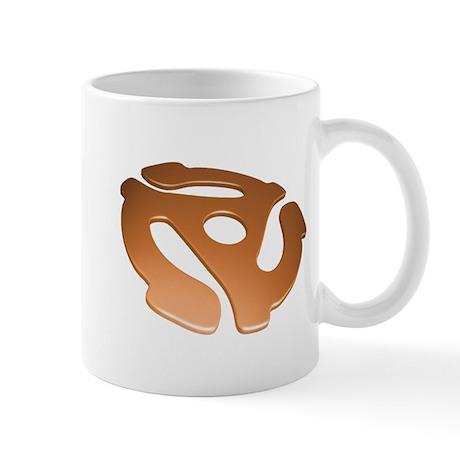 Orange 3D 45 RPM Adapter Mug