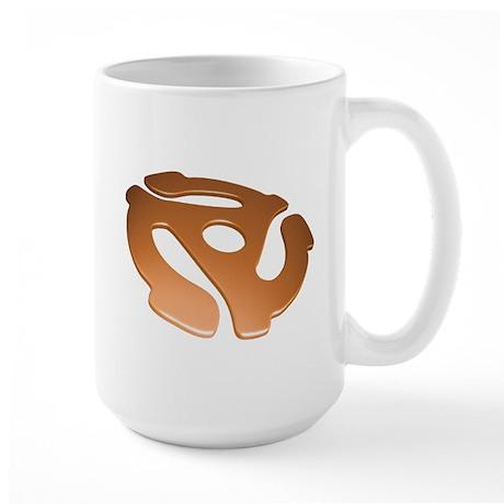 Orange 3D 45 RPM Adapter Large Mug