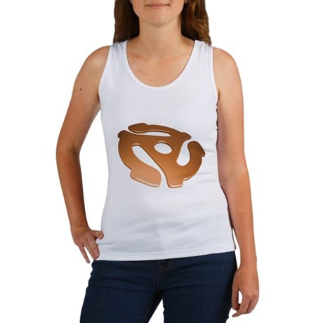 Orange 3D 45 RPM Adapter Women's Tank Top