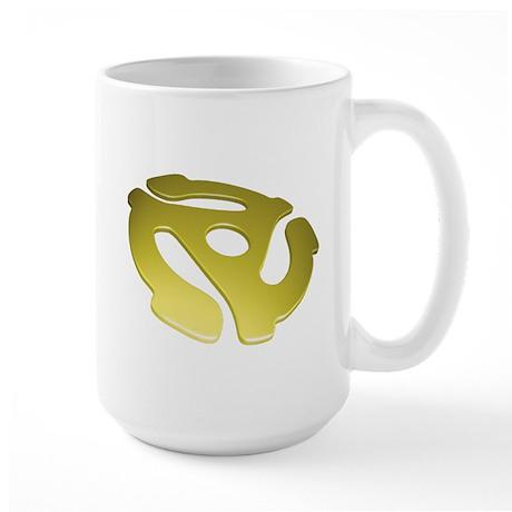 Gold 3D 45 RPM Adapter Large Mug