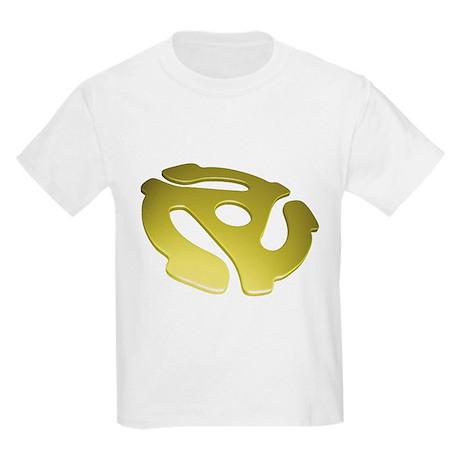 Gold 3D 45 RPM Adapter Kids Light T-Shirt
