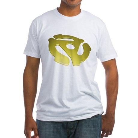Gold 3D 45 RPM Adapter Fitted T-Shirt