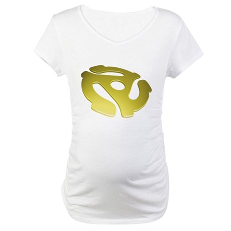 Gold 3D 45 RPM Adapter Maternity T-Shirt