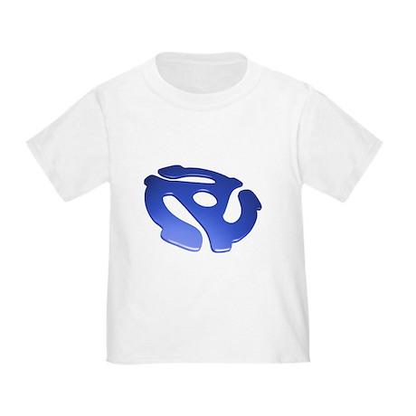Blue 3D 45 RPM Adapter Toddler T-Shirt