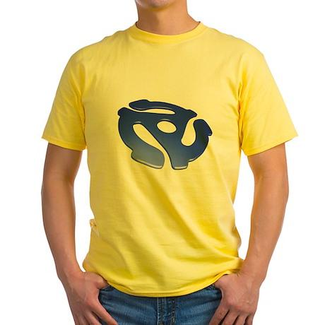 Blue 3D 45 RPM Adapter Yellow T-Shirt