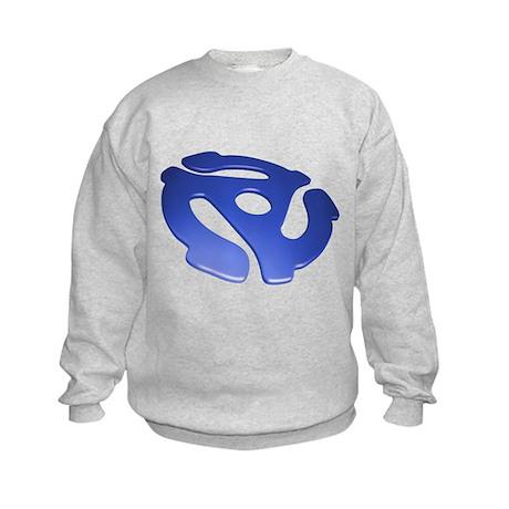 Blue 3D 45 RPM Adapter Kids Sweatshirt