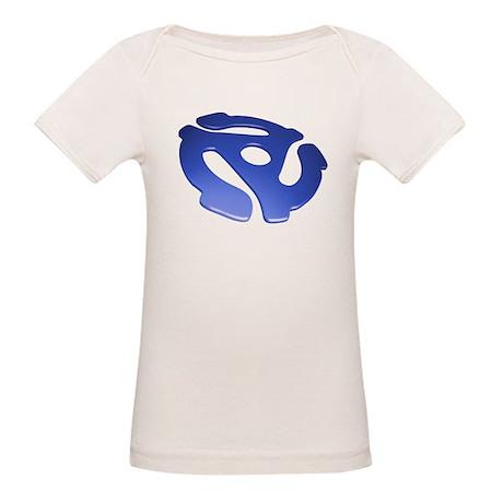 Blue 3D 45 RPM Adapter Organic Baby T-Shirt