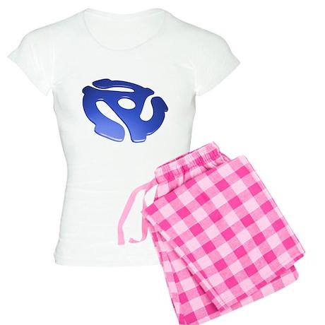 Blue 3D 45 RPM Adapter Women's Light Pajamas