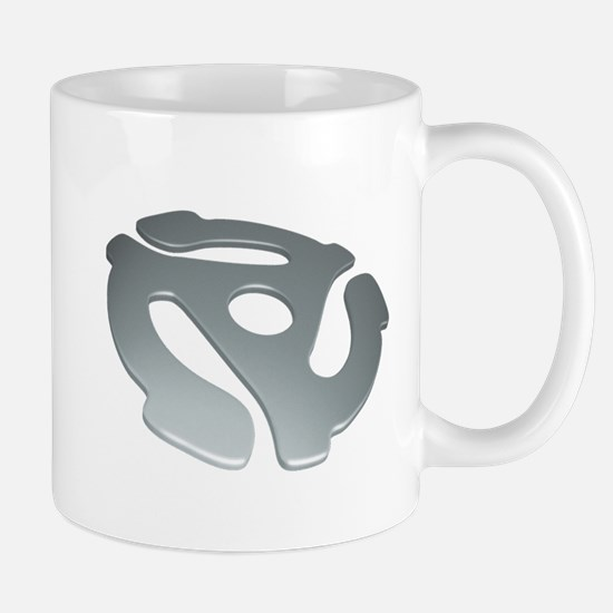 Silver 3D 45 RPM Adapter Mug
