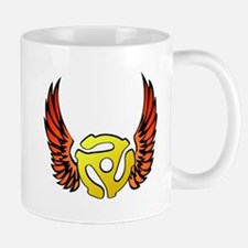 Red Winged 45 RPM Adapter Mug
