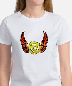 Red Winged 45 RPM Adapter Women's T-Shirt