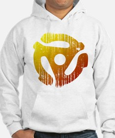Distressed 45 RPM Adapter Hoodie